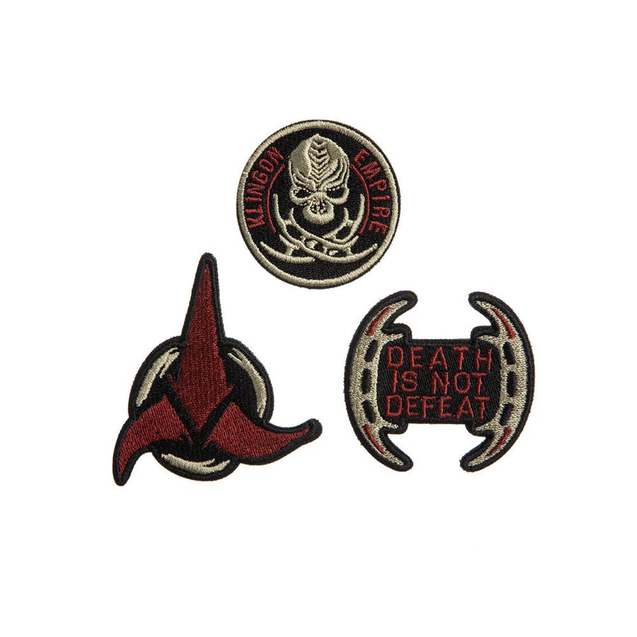 Star Trek Klingon Empire Embroidered Patch Set