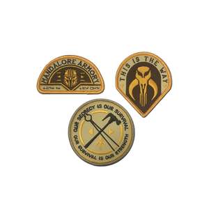 Star Wars Mandalore Armory Patch Set