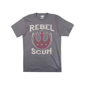 Star Wars Rebel Scum Logo Charcoal Tee