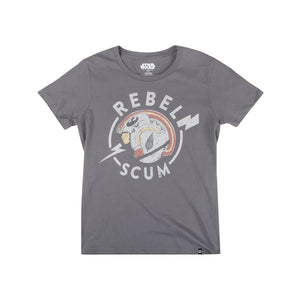 Star Wars Rebel Scum Helmet Women's Charcoal Tee