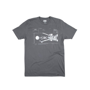 Star Wars Storyboard Shot #180 Charcoal Tee