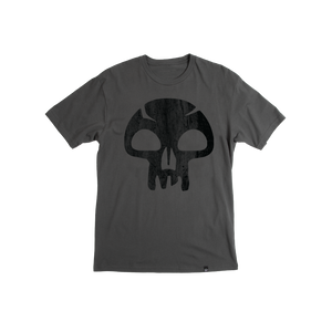 Magic The Gathering Mana Skull Charcoal Tee