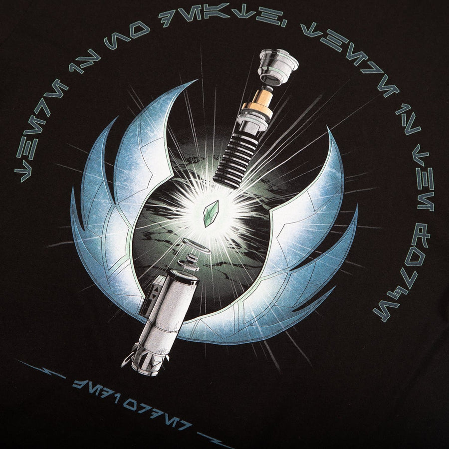 Star Wars Jedi Master Illustration Black Tee