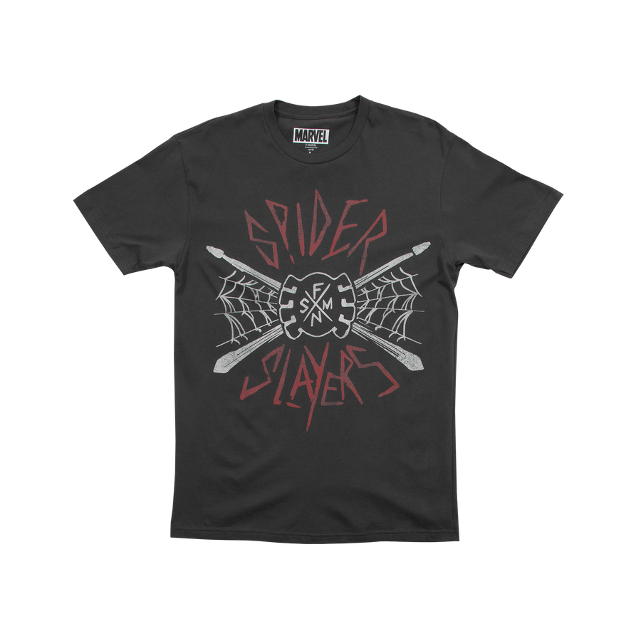 Spider Slayers Band Charcoal Tee