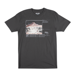 Star Trek Enterprise Destruction Storyboard Charcoal Tee