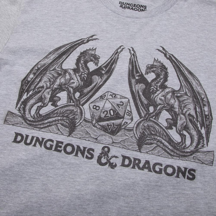 D&D Dragons Heather Grey Tee