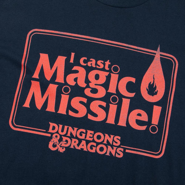 D&D Magic Missile Navy Tee