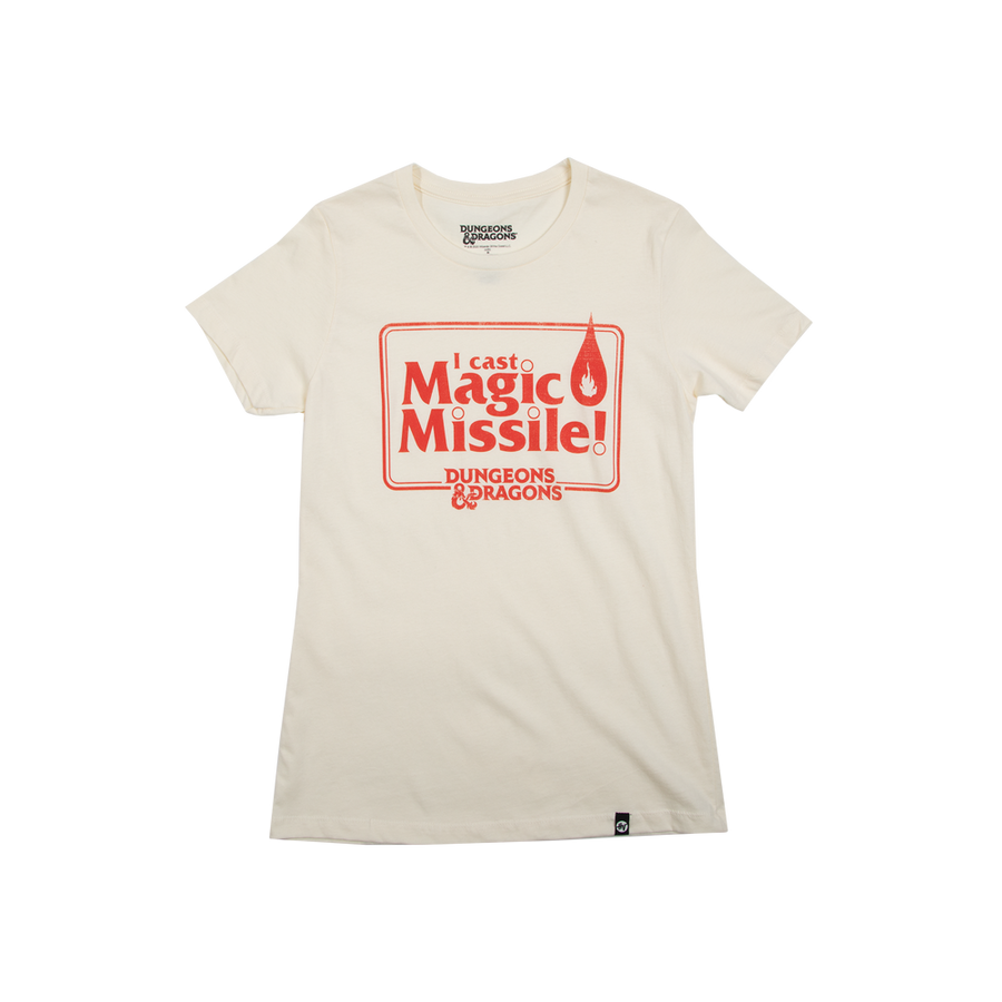 D&D Women's Magic Missile Natural Tee