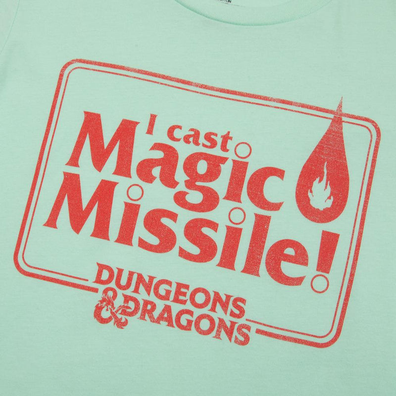 D&D Women's Magic Missile Mint Tee
