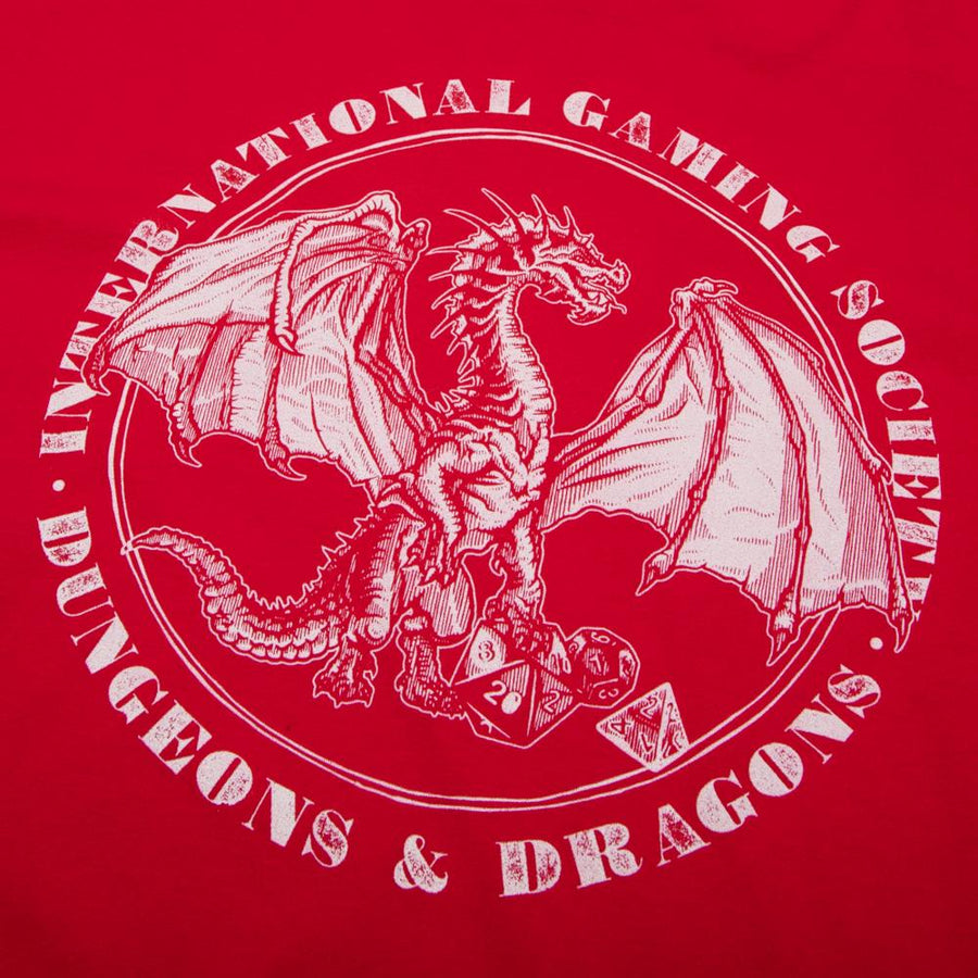D&D Gaming Society Red Tee