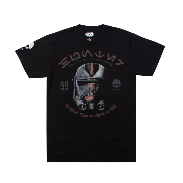 Star Wars Bad Batch Hunter Black Tee