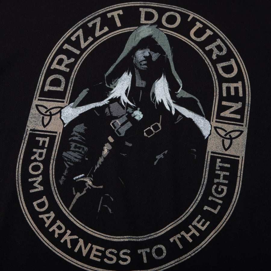 Drizzt From Darkness Black Tee