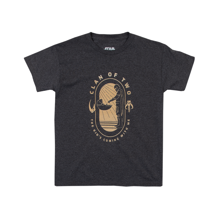 Kid's Coming With Me Charcoal Youth Tee
