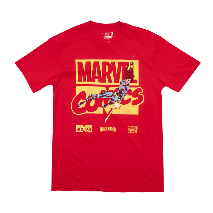 Marvel Comics Black Widow Red Tee