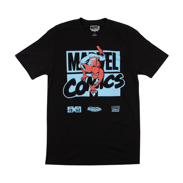 Marvel Comic Spider-Man Black Tee