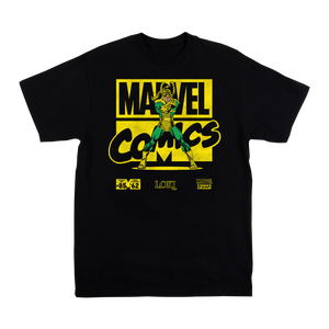 Marvel Comics Loki Black Tee