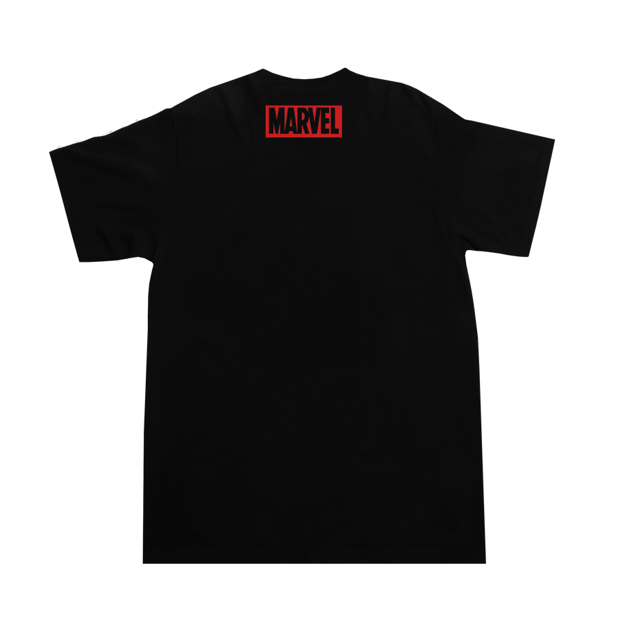 Make Mine Marvel Scroll Black Tee