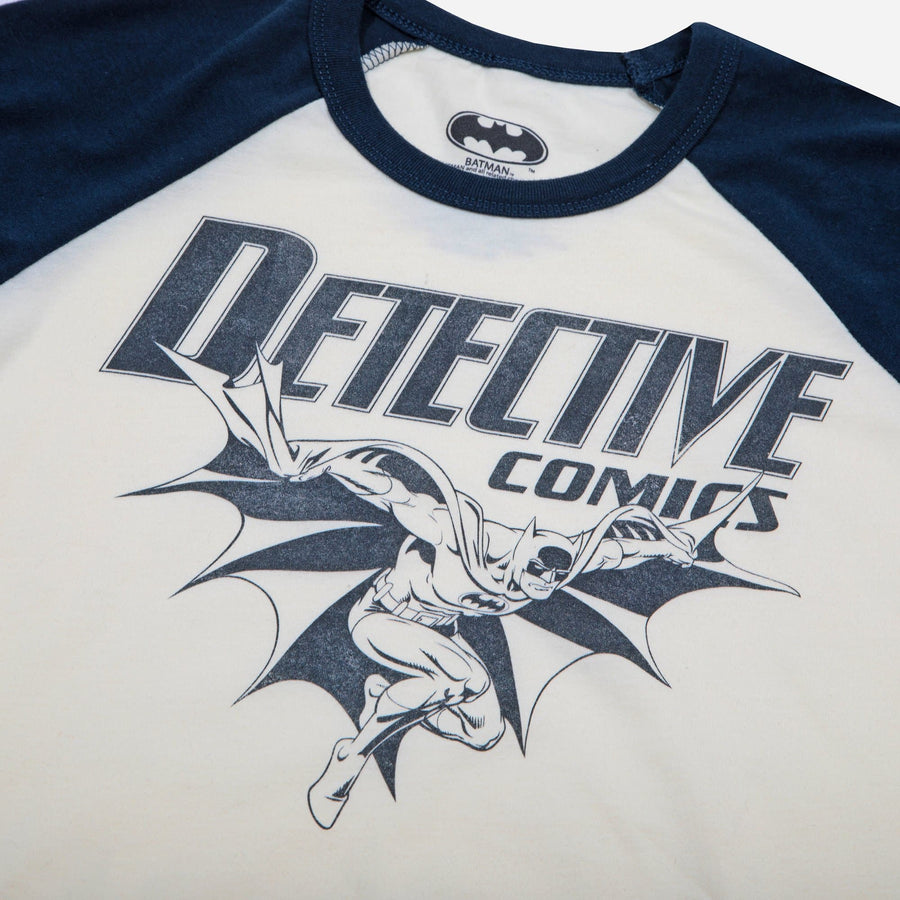 Batman Detective Comics Blue & White Raglan