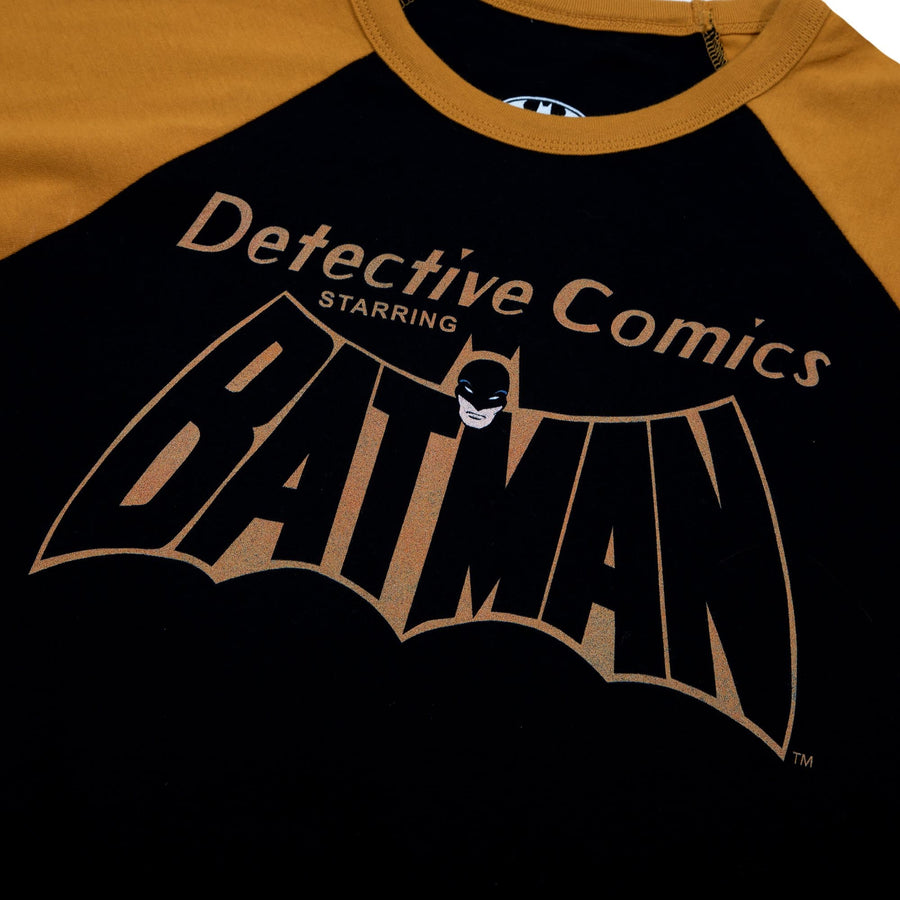 Batman Detective Comics Black & Gold Raglan