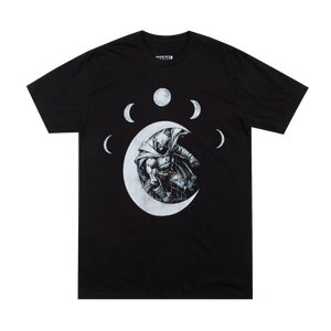 Moon Knight Moon Phases Black Tee