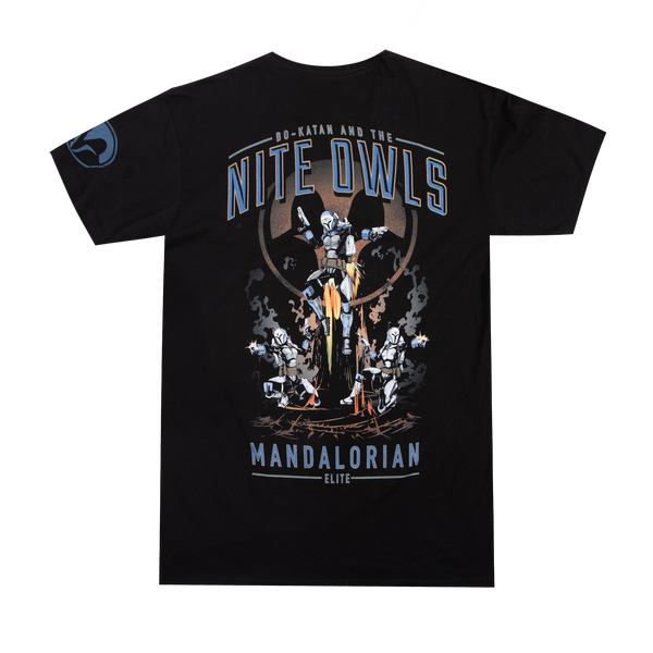 Star Wars Bo-Katan And The Nite Owls Black Tee