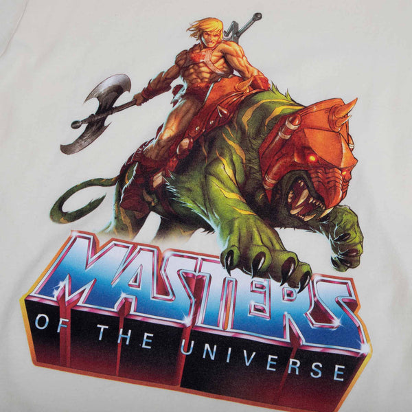 Masters of the Universe He-Man and Battle Cat Natural Tee