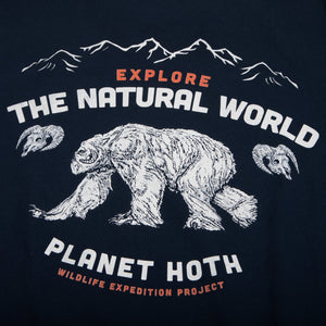 Star Wars Hoth Wildlife Expeditions Navy Tee