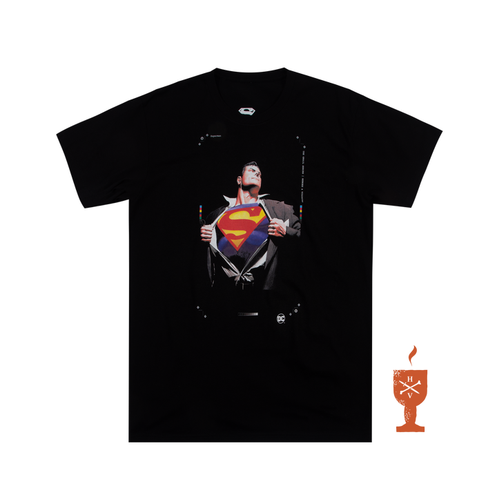 DC Comics Superman Black Tee