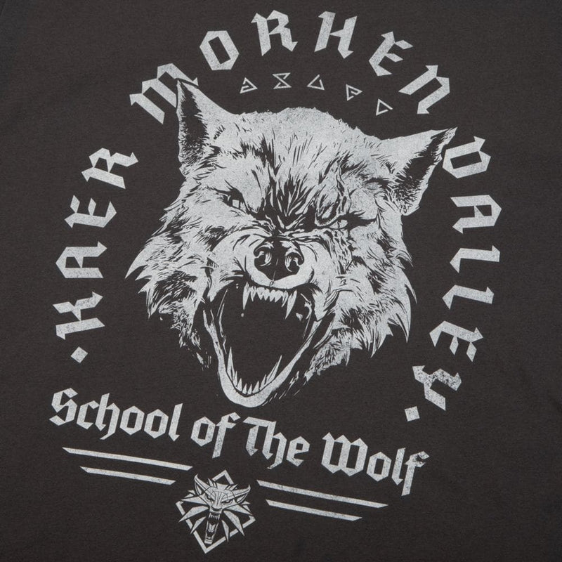 The Witcher Kaer Morhen Valley Wolf Charcoal Tee