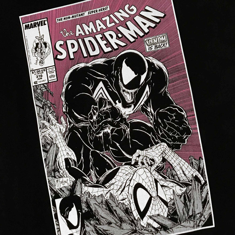 Spider-Man Cover 361 Black Tee