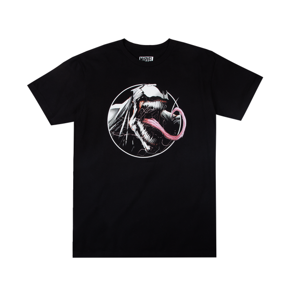 Venom Tongue Out Black Tee