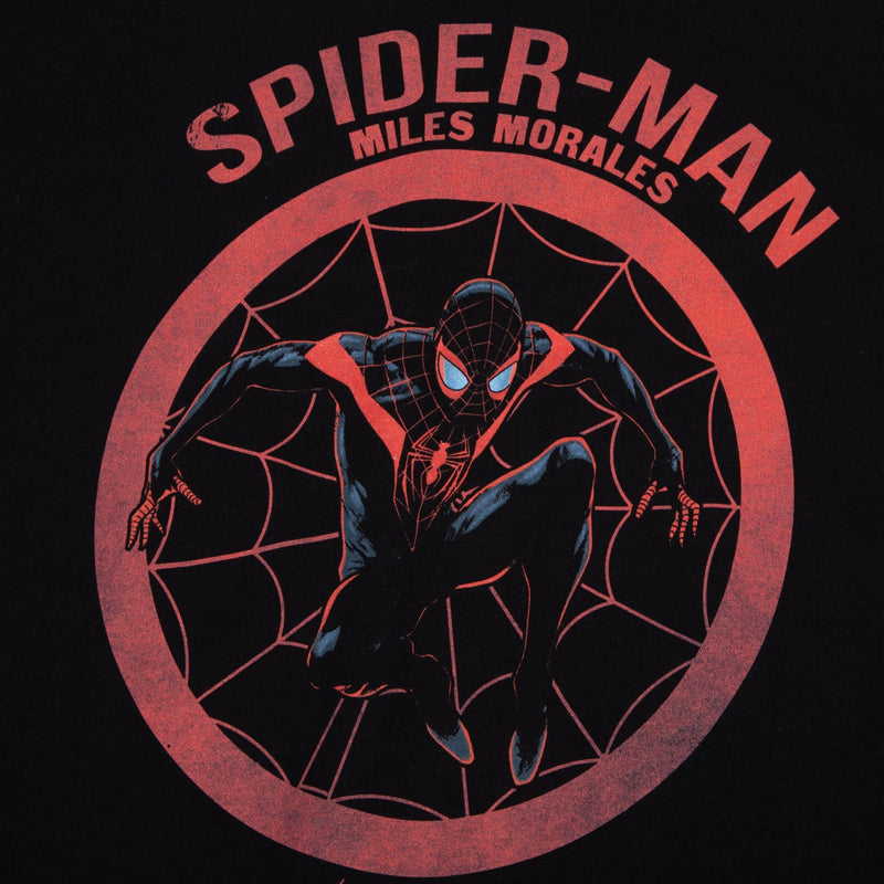 Miles Morales Spider-Man Distress Art Black Tee