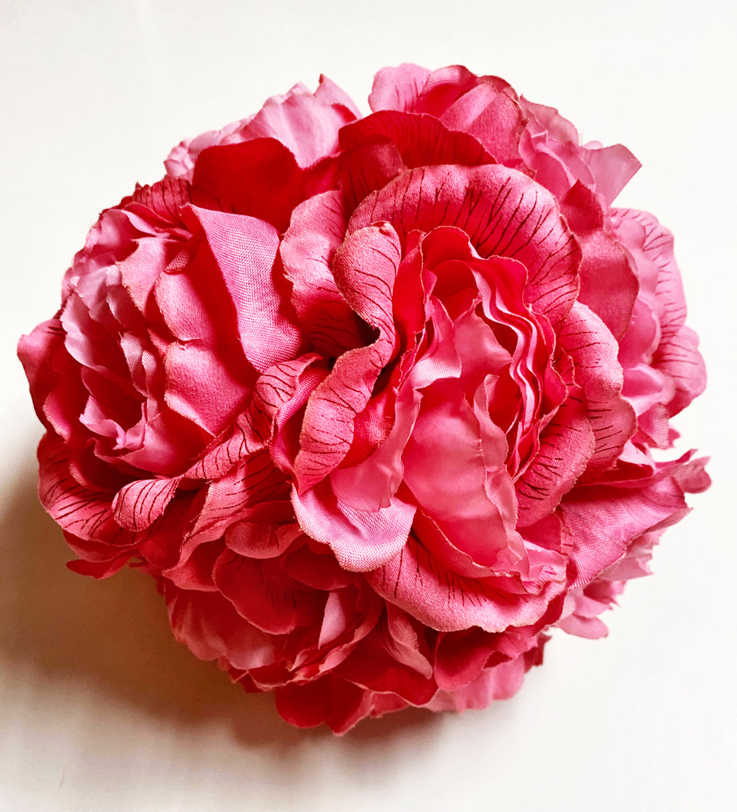 Bright Pink Peony Kissing Ball