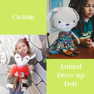 Animal Custom 18 Dress Up Doll Little Demoura Designs 18 Doll Ballerina Best Seller Cloth Doll Custom