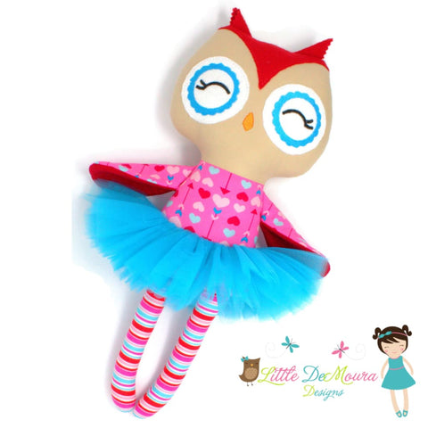Arrows Demoura Doll Feb 8Th Hearts Athene Owl Doll- Hearts & Arrows Little Demoura Designs