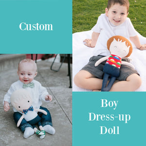 Custom Doll 18 Doll Best Seller boy boys cloth doll BOY Custom 18 Dress Up Doll Little DeMoura Designs