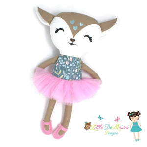 18 Doll Deer Demoura Doe Doll Fawn Briana Doe/fawn/deer Dress Up Doll- Meadow Little Demoura Designs