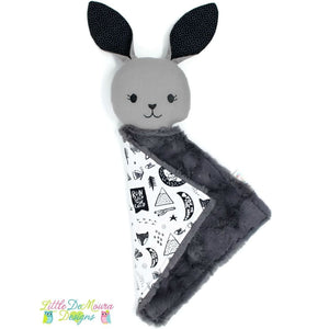 Bunny Love Buddy- Eddy (Ready To Ship) Little Demoura Designs 18 Doll Black Bunny Doll Forest