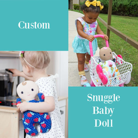 Custom Snuggle Baby Little Demoura Designs Doll First Baby Doll Snuggle Baby