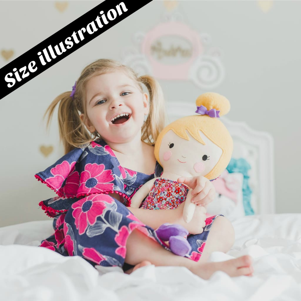 f4d3375996c29 ... Dino Loving Ballerina Doll/ 18 Handmade Fabric Doll (Select Your Skin  And Hair Color ...