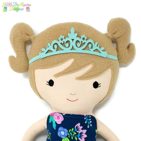 Doll Tiara Headband (Multiple Colors & Styles) Little Demoura Designs Accessory Crown Headband Tiara