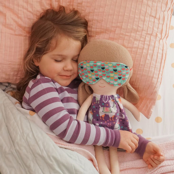 Doll Bedtime Set Accessories Bedtime Clouds Doll Clothes Doll Outfit Dress Up Doll- Dolly Outfit- Bedtime Set- Nightgown And Sleep Mask -