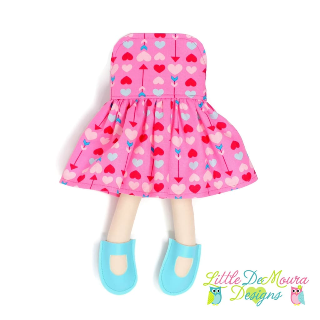 Dress Up Doll- Dolly Outfit- Hearts And Arrows Doll Dress Little Demoura Designs Accessories Arrows Clothes Colorful Doll Clothes