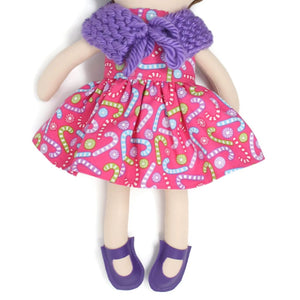 Dress Up Doll- Dolly Outfit- Holiday Candy Little Demoura Designs Accessories Candy Capelet Caplet Christmas