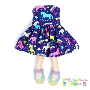 Dress Up Doll- Dolly Outfit- Party Dress Jewel Unicorns Doll Dress Little Demoura Designs Accessories Clothes Doll Clothes Doll Outfit Dress