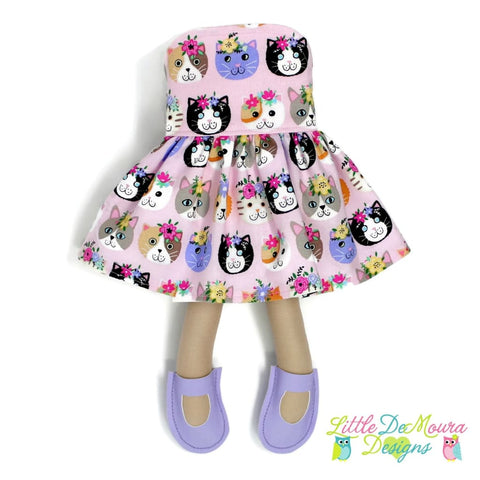 Dress Up Doll- Dolly Outfit- Party Dress Petal Purrfect Cats Doll Dress Little Demoura Designs Accessories Cats Clothes Doll Clothes Doll