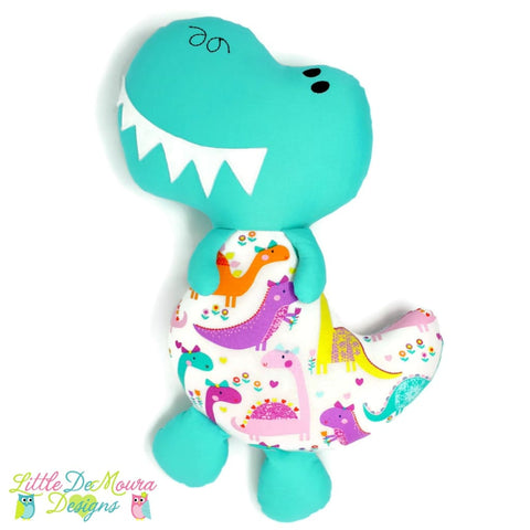 Girly Dino Softy Little Demoura Designs Dino Dinosaur Plushie Rawr Softie
