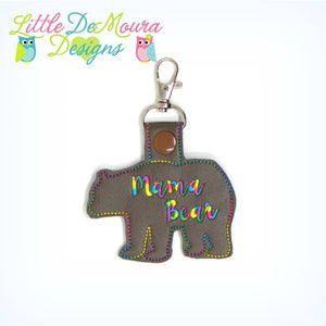 Bear Best Seller Clip Keychain Mama Mama Bear Keychain / Keyfob / Snap-Tab / Zipper Pull Little Demoura Designs