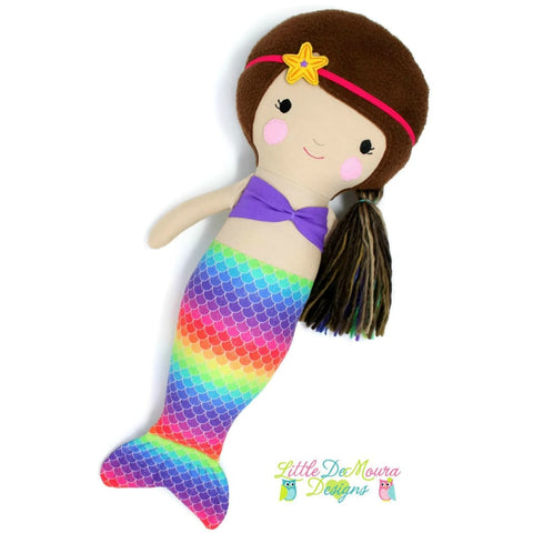 Mermaid Doll- Marina (Ready To Ship) Little Demoura Designs Ariel Demoura Doll Handmade Little