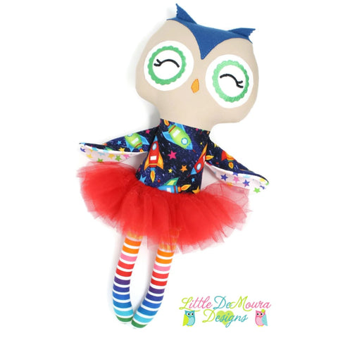 Owl Doll- Rocket Fun Little Demoura Designs Demoura Doll Hoot Little Owl
